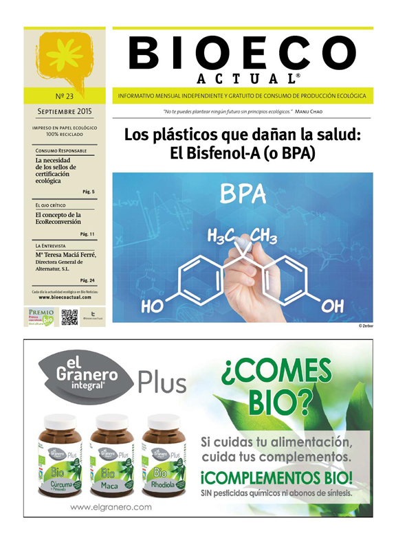 Portada de la revista Bioeco Actual nº23 - Cover of the Bioeco Actual magazine nº23 - Portada dela revista Bioeco Actual nº23