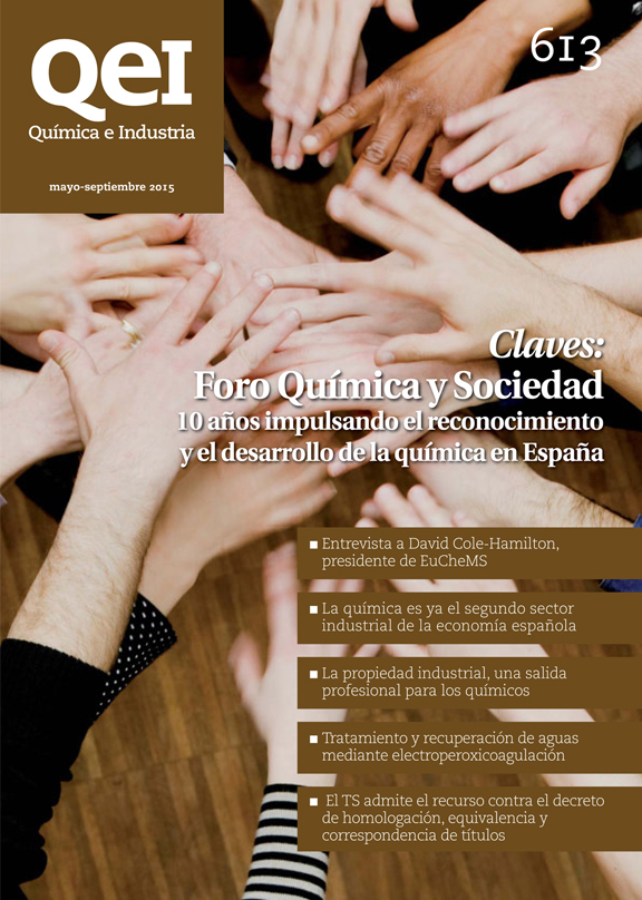 Portada de la revista Química e Industria - Cover of the Química e Industria magazine - Coberta de la revista Química e Industria