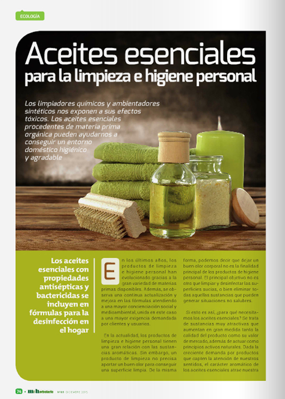Página 1 del artículo sobre aceites esenciales - Page 1 of the article on essential oils - Pàgina 1 del article sobre olis essencials